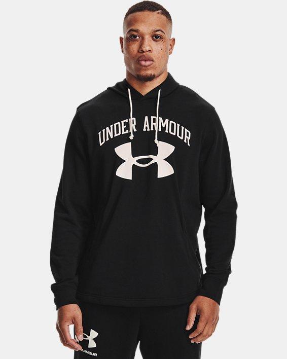 Men's UA Rival Terry Big Logo Hoodie, Black, pdpMainDesktop image number 1