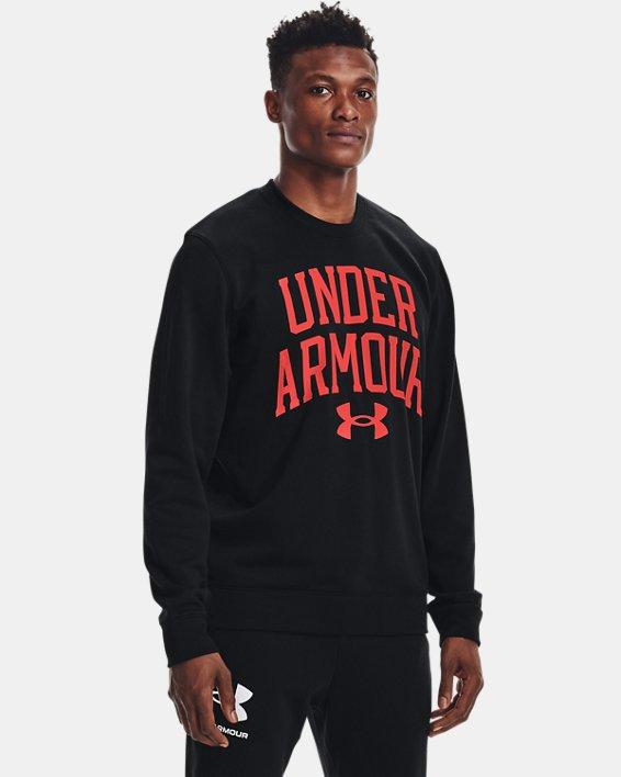 Men's UA Rival Terry Crew, Black, pdpMainDesktop image number 1