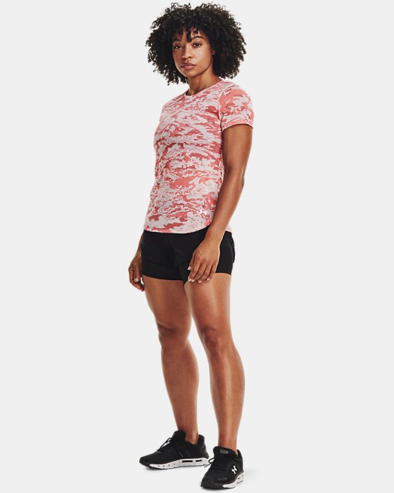 Women's UA RUSH™ Run 2-in-1 Shorts, Black, pdpMainDesktop image number 0