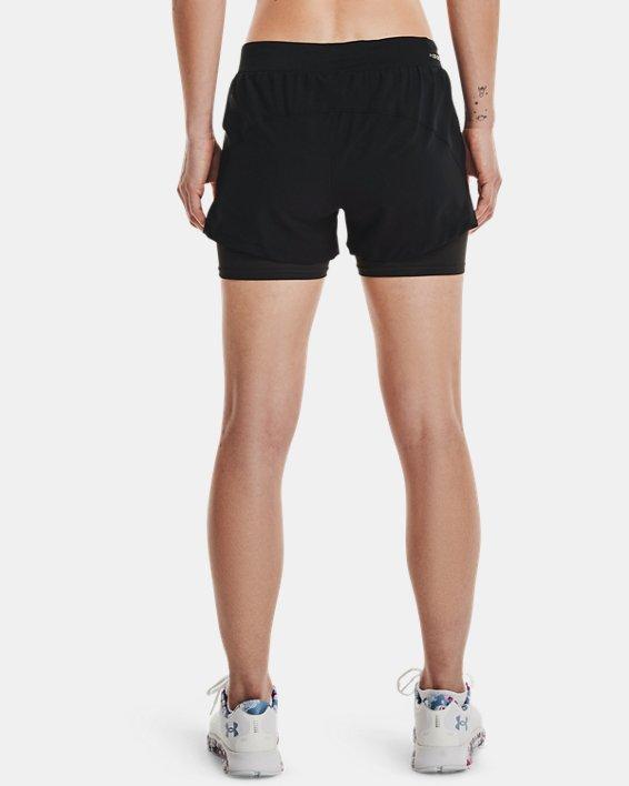 Women's UA Iso-Chill Run 2-in-1 Shorts, Black, pdpMainDesktop image number 2
