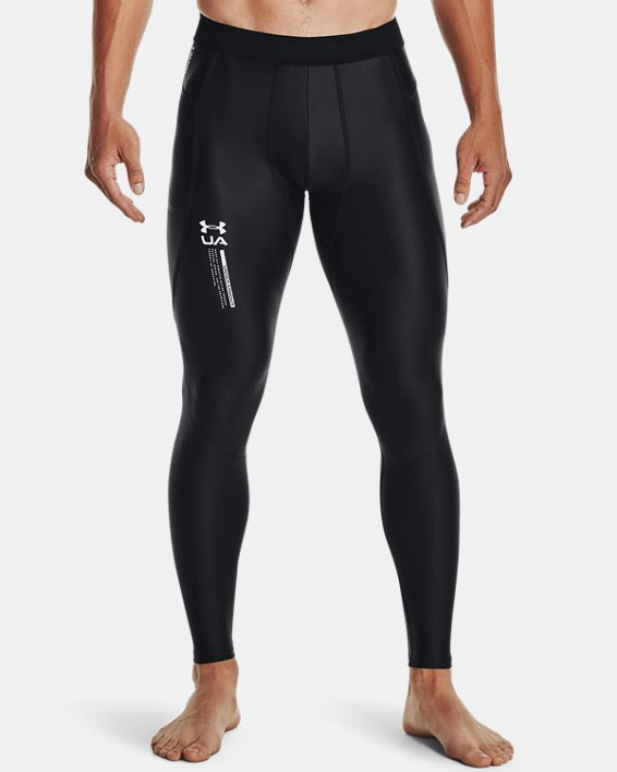 Leggings UA Iso-Chill Perforated para hombre, Black, pdpMainDesktop image number 1