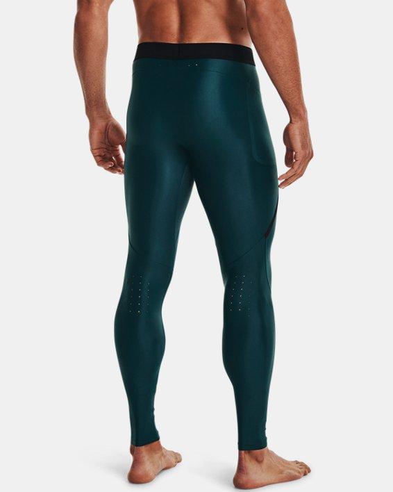 Men's UA Iso-Chill Perforated Leggings, Blue, pdpMainDesktop image number 2