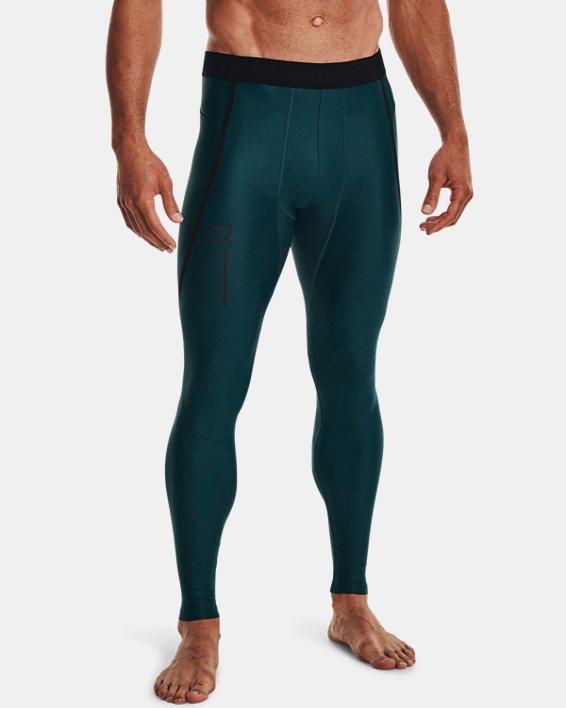 Men's UA Iso-Chill Perforated Leggings, Blue, pdpMainDesktop image number 1