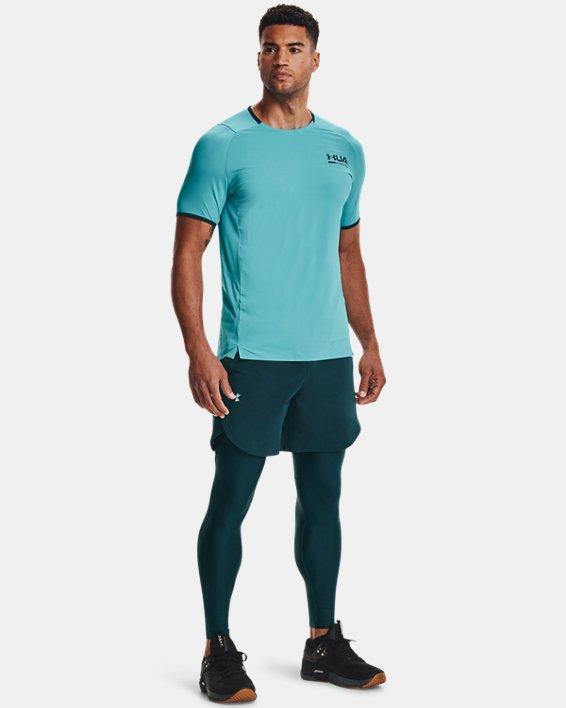 Men's UA Iso-Chill Perforated Leggings, Blue, pdpMainDesktop image number 0