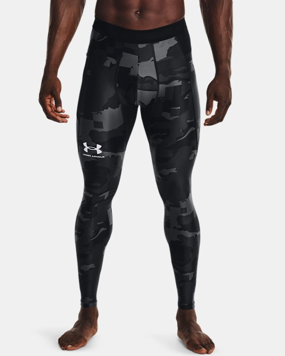 Men's UA Iso-Chill Printed Leggings, Black, pdpMainDesktop image number 1