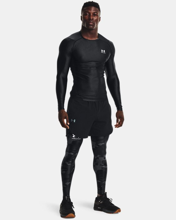 Men's UA Iso-Chill Printed Leggings, Black, pdpMainDesktop image number 0