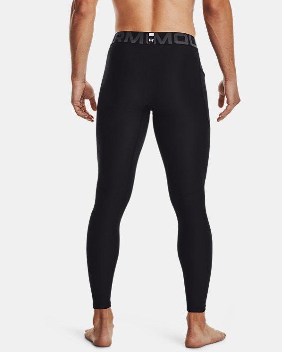 Men's HeatGear® Armour Leggings, Black, pdpMainDesktop image number 2