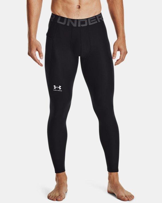 Men's HeatGear® Armour Leggings, Black, pdpMainDesktop image number 1