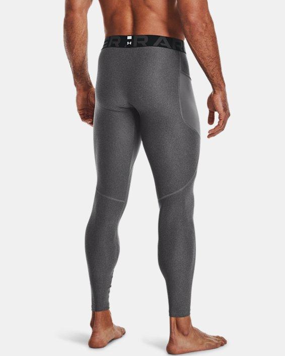 Men's HeatGear® Armour Leggings, Gray, pdpMainDesktop image number 2