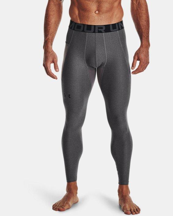 Men's HeatGear® Armour Leggings, Gray, pdpMainDesktop image number 1