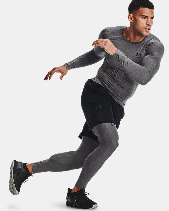 Men's HeatGear® Armour Leggings, Gray, pdpMainDesktop image number 6