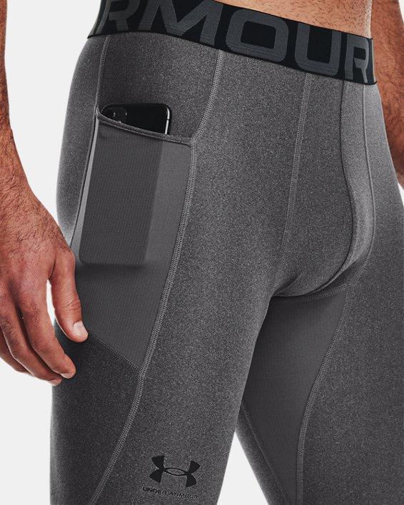 Men's HeatGear® Armour Leggings, Gray, pdpMainDesktop image number 3