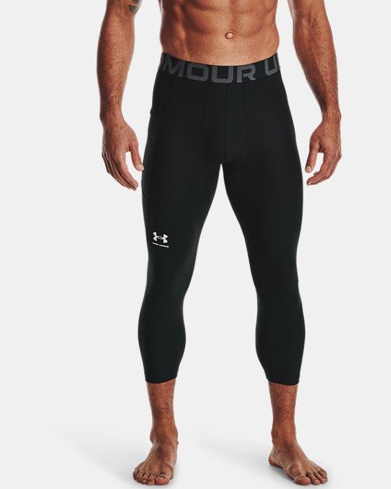 Men's HeatGear® Armour ¾ Leggings, Black, pdpMainDesktop image number 1