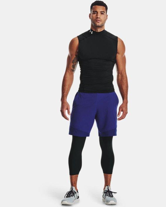 Men's HeatGear® Armour ¾ Leggings, Black, pdpMainDesktop image number 0