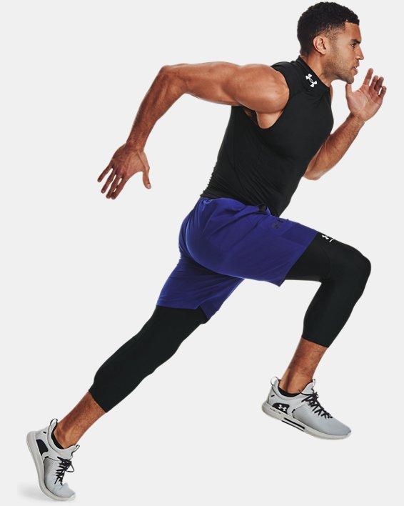 Men's HeatGear® Armour ¾ Leggings, Black, pdpMainDesktop image number 6