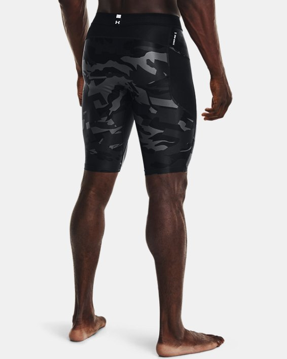 Men's UA Iso-Chill Compression Print Long Shorts, Black, pdpMainDesktop image number 2