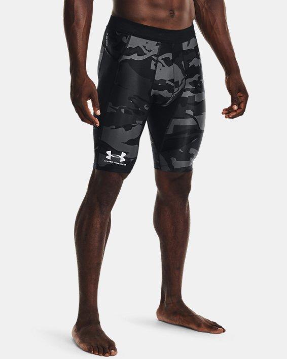 Men's UA Iso-Chill Compression Print Long Shorts, Black, pdpMainDesktop image number 1