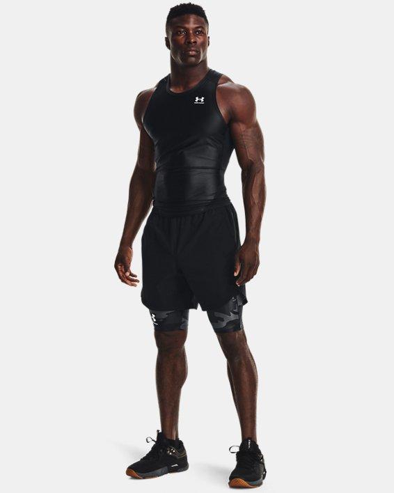 Men's UA Iso-Chill Compression Print Long Shorts, Black, pdpMainDesktop image number 0