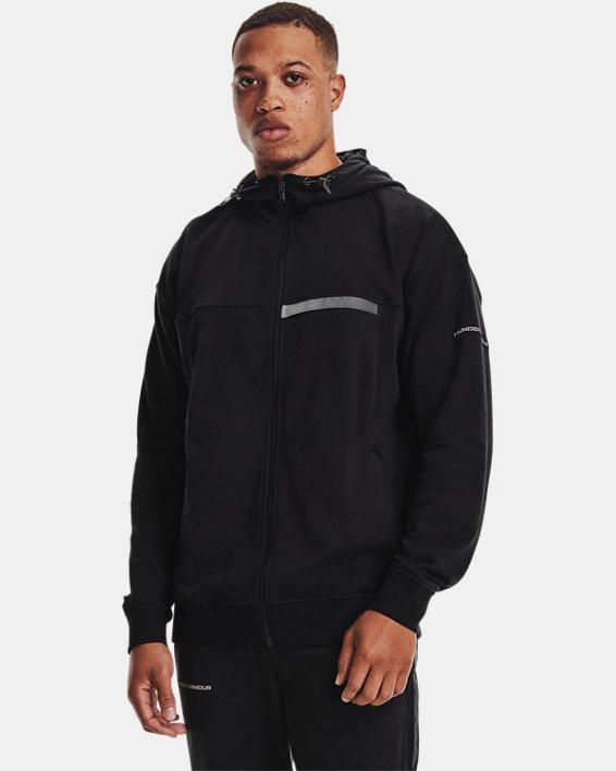 Men's UA Rival Terry AMP Full Zip Hoodie, Black, pdpMainDesktop image number 0