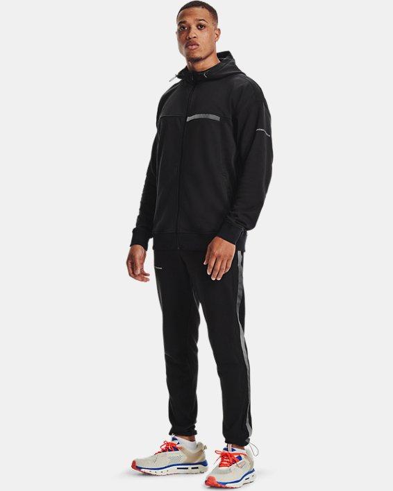 Men's UA Rival Terry AMP Full Zip Hoodie, Black, pdpMainDesktop image number 2