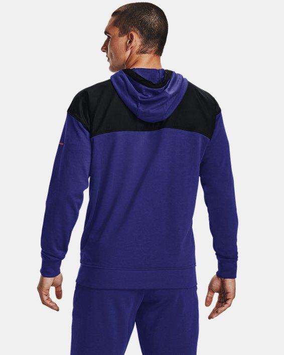 Men's UA Rival Terry AMP Full Zip Hoodie, Blue, pdpMainDesktop image number 1