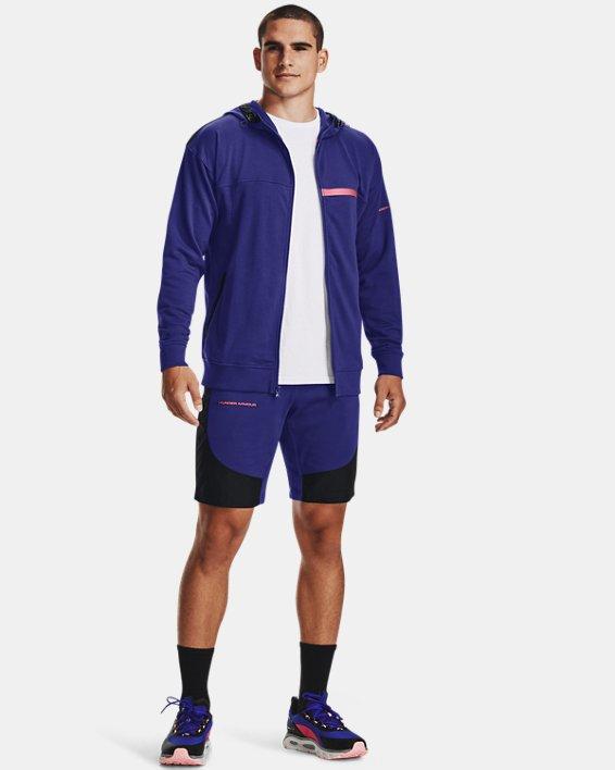 Men's UA Rival Terry AMP Full Zip Hoodie, Blue, pdpMainDesktop image number 2