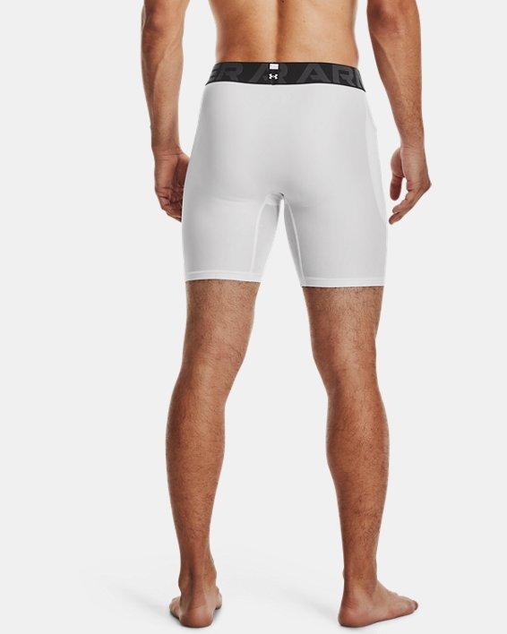 Men's HeatGear® Armour Compression Shorts, White, pdpMainDesktop image number 2