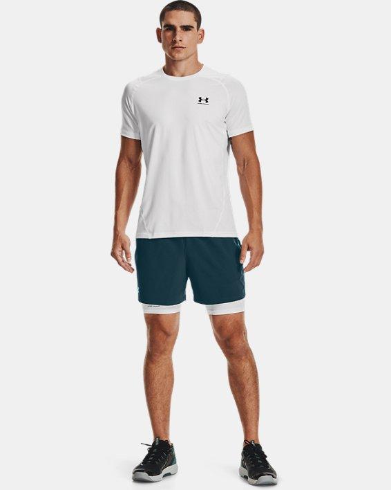 Men's HeatGear® Armour Compression Shorts, White, pdpMainDesktop image number 0