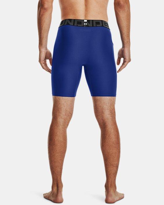 Men's HeatGear® Armour Compression Shorts, Blue, pdpMainDesktop image number 2
