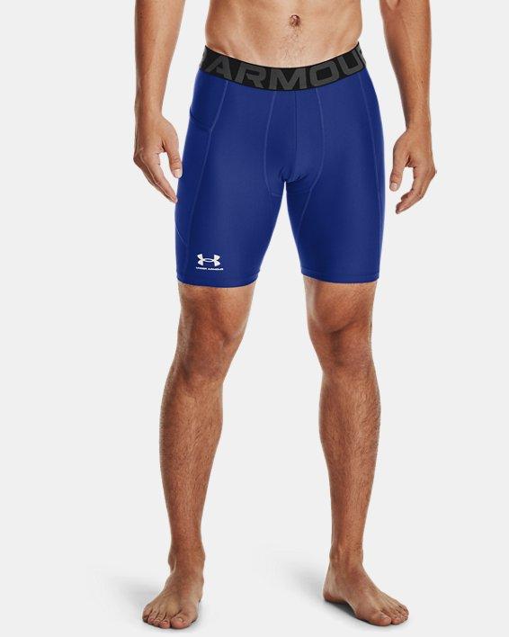 Men's HeatGear® Armour Compression Shorts, Blue, pdpMainDesktop image number 1