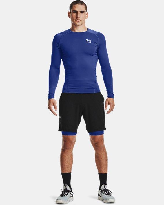 Men's HeatGear® Armour Compression Shorts, Blue, pdpMainDesktop image number 0
