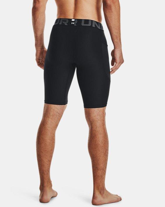 Men's HeatGear® Pocket Long Shorts, Black, pdpMainDesktop image number 1