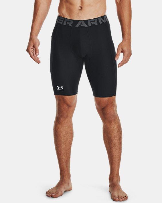 Men's HeatGear® Pocket Long Shorts, Black, pdpMainDesktop image number 0