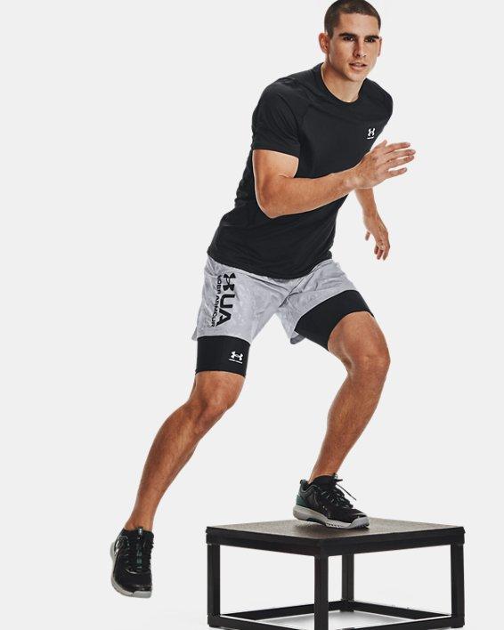 Men's HeatGear® Pocket Long Shorts, Black, pdpMainDesktop image number 3