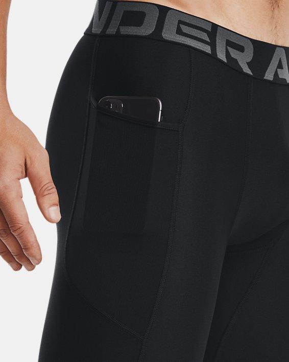 Men's HeatGear® Pocket Long Shorts, Black, pdpMainDesktop image number 4