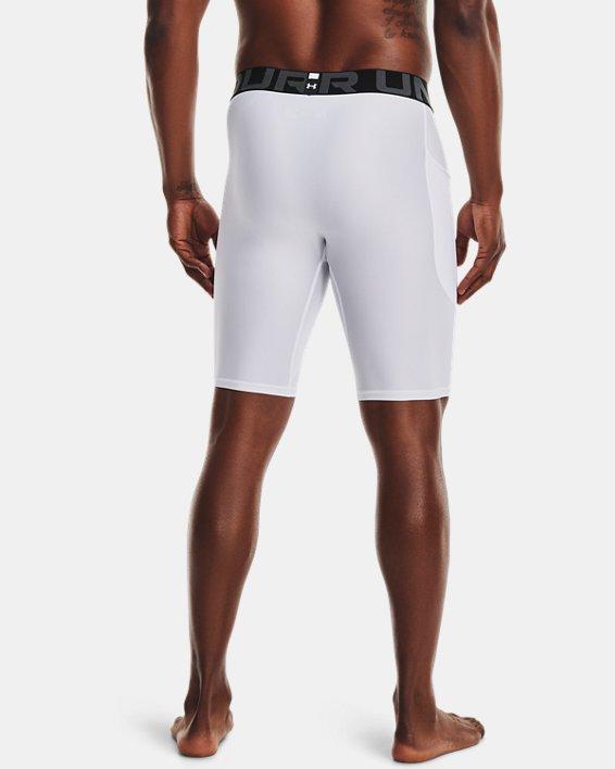 Men's HeatGear® Pocket Long Shorts, White, pdpMainDesktop image number 1