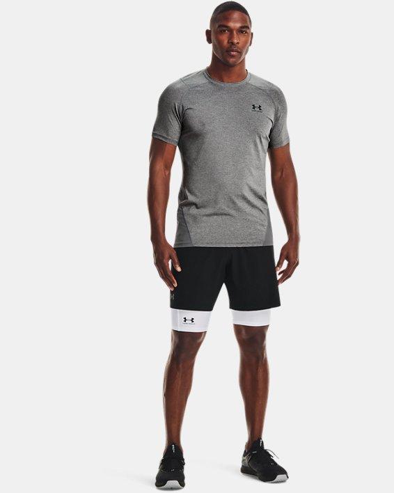 Men's HeatGear® Pocket Long Shorts, White, pdpMainDesktop image number 2