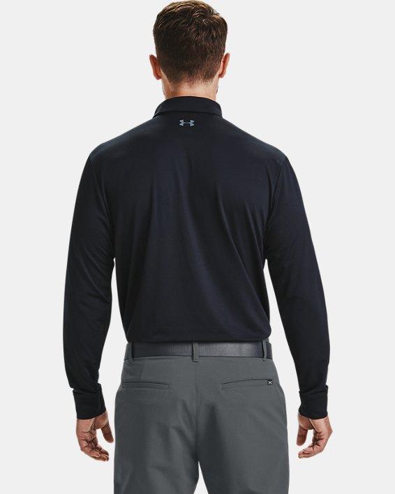 Men's UA Performance Textured Long Sleeve Polo, Black, pdpMainDesktop image number 2