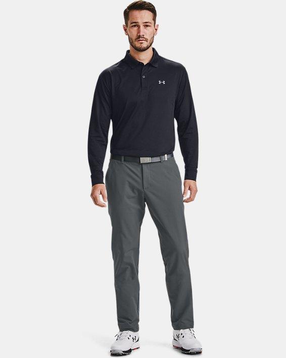 Men's UA Performance Textured Long Sleeve Polo, Black, pdpMainDesktop image number 0