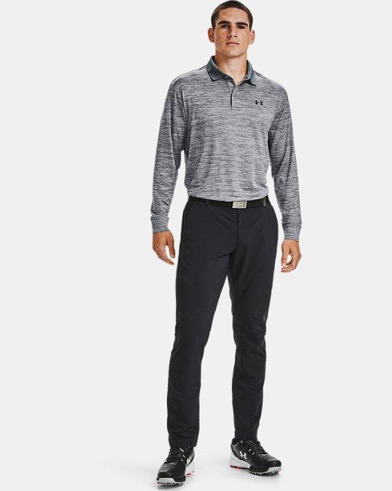 언더아머 골프 폴로 셔츠 Under Armour UA Perf Polo 2.0 Long Sleeve,Gray-035