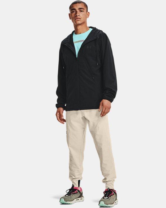 Men's UA Woven Windbreaker Jacket, Black, pdpMainDesktop image number 2
