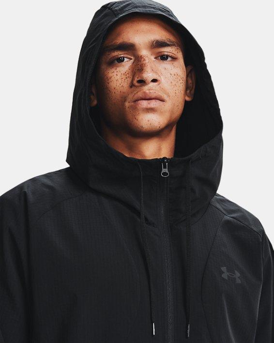 Men's UA Woven Windbreaker Jacket, Black, pdpMainDesktop image number 3