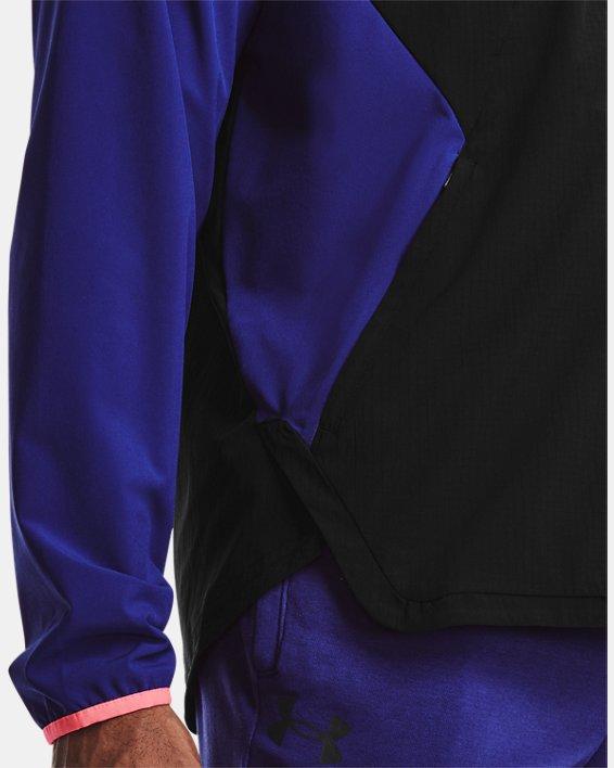 Men's UA Stretch Woven Bomber Jacket, Black, pdpMainDesktop image number 3