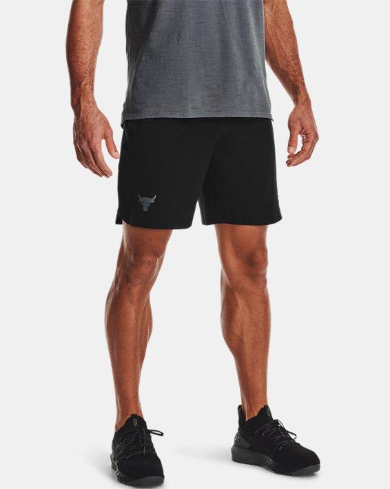 Herren Project Rock Shorts mit Druckknopfleisten, Black, pdpMainDesktop image number 0