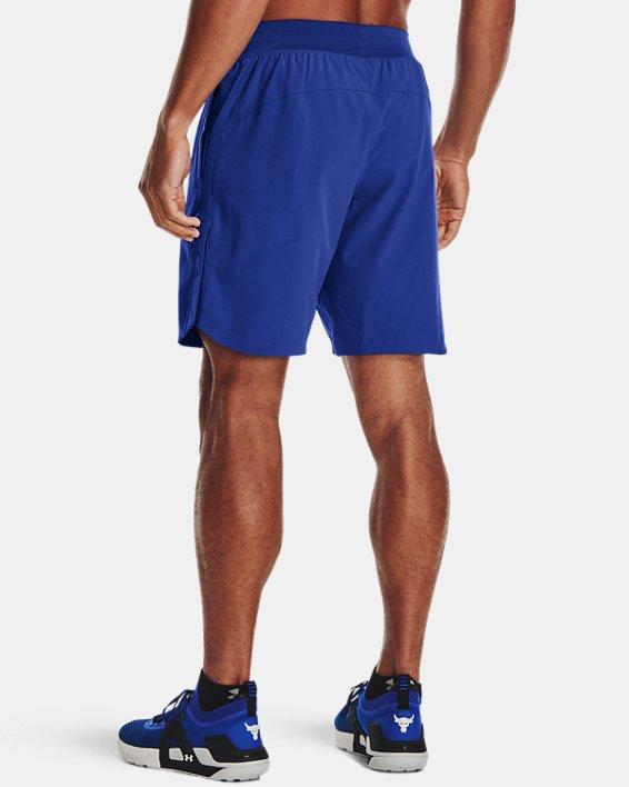 Men's Project Rock Snap Shorts, Blue, pdpMainDesktop image number 1