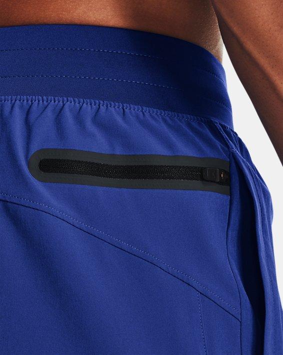 Men's Project Rock Snap Shorts, Blue, pdpMainDesktop image number 4