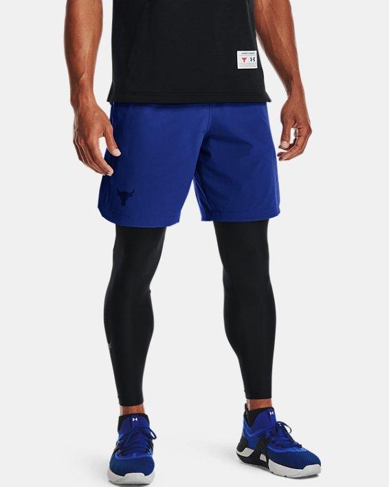 Men's Project Rock Snap Shorts, Blue, pdpMainDesktop image number 0