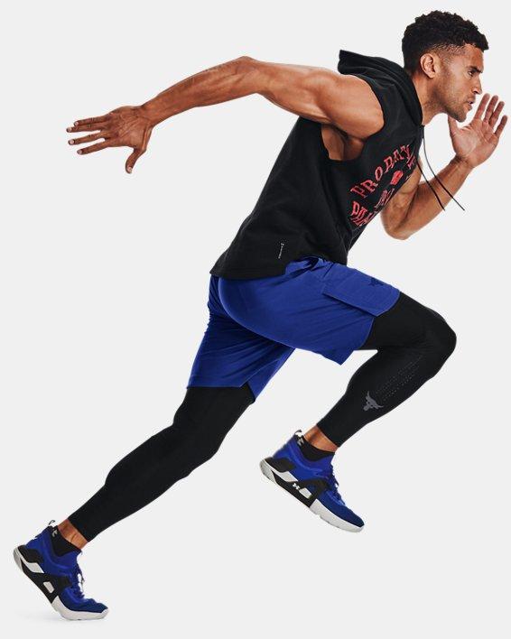 Men's Project Rock Snap Shorts, Blue, pdpMainDesktop image number 3