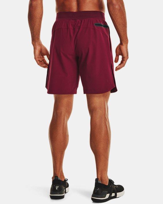 Men's Project Rock Snap Shorts, Red, pdpMainDesktop image number 1