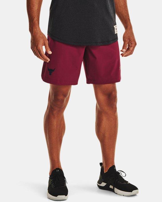 Men's Project Rock Snap Shorts, Red, pdpMainDesktop image number 0